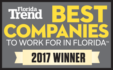 Florida Trend Best Companies to work for in florida. 2017 winner.