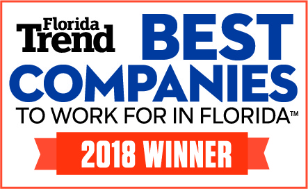 Florida Trend Best Companies to work for in florida. 2018 winner.