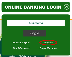 From the Online Banking Login