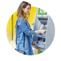 Access a network of 80,000 ATMs